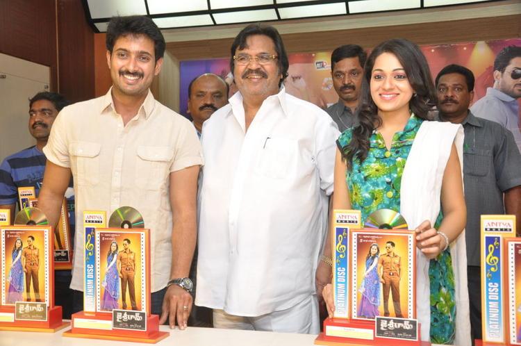 Uday,Dasari Narayana And Reshma Spotted At Jai Sriram Movie Platinum Disc Function