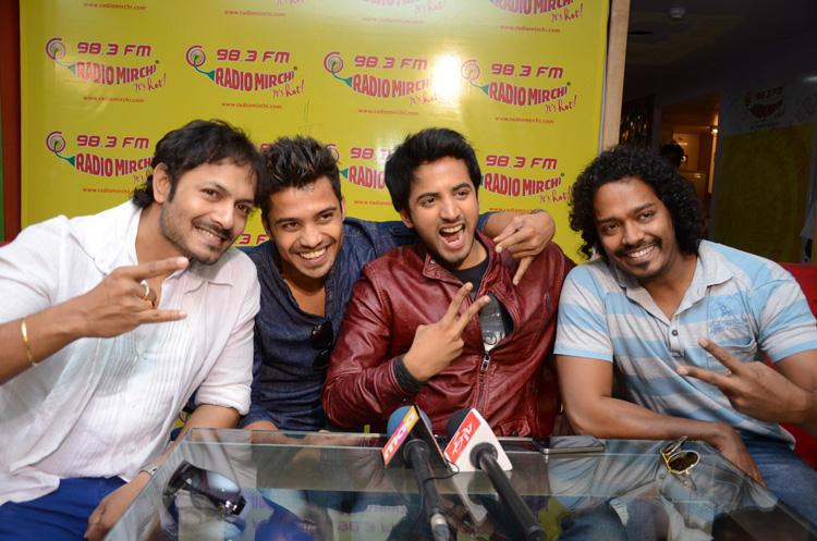 Revanth Smiling Photo Clicked At Radio Mirchi During Promotion Of Intinta Annamayya