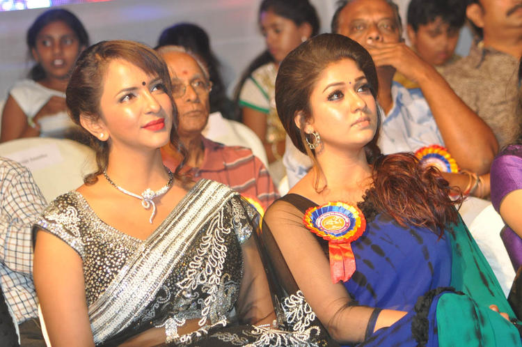 Nayanthara And Lakshmi Enjoy The Programme At Nandi Awards 2011 Function