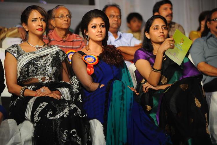 Lakshmi And Nayanthara Enjoy The Programme At Nandi Film Awards 2011 Function