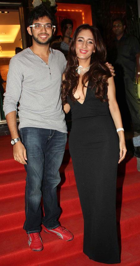 Aditya Thackeray Posed With Farah Khan Ali At Farah Khan Ali Store Launch Party