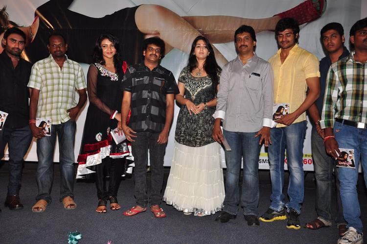 Saranya,Chandu,Charmy,Srinu And Others Posed For Camera At Prema Oka Maikam Movie Audio Release Function