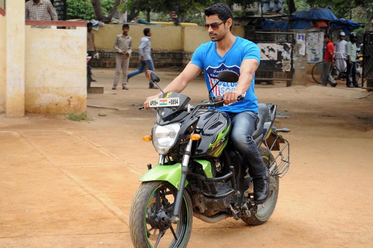 Bishnu Stylish Look Photo Still On Bike From Telugu Movie Ek