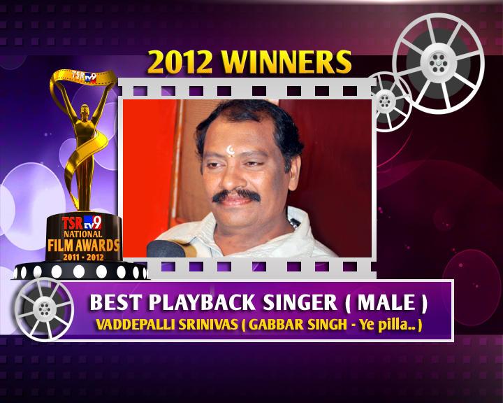 Vaddepalli Srinivas Is The Winner Of Best Male Playback Singer For Gabbar Singh - Ye Pilla Song