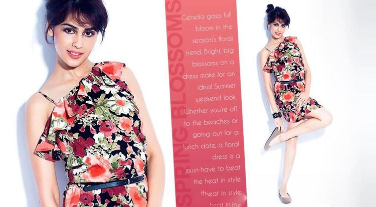 Genelia D'Souza Glamour Look Photo Shoot For Myntra Star N Style Magazine April 2013