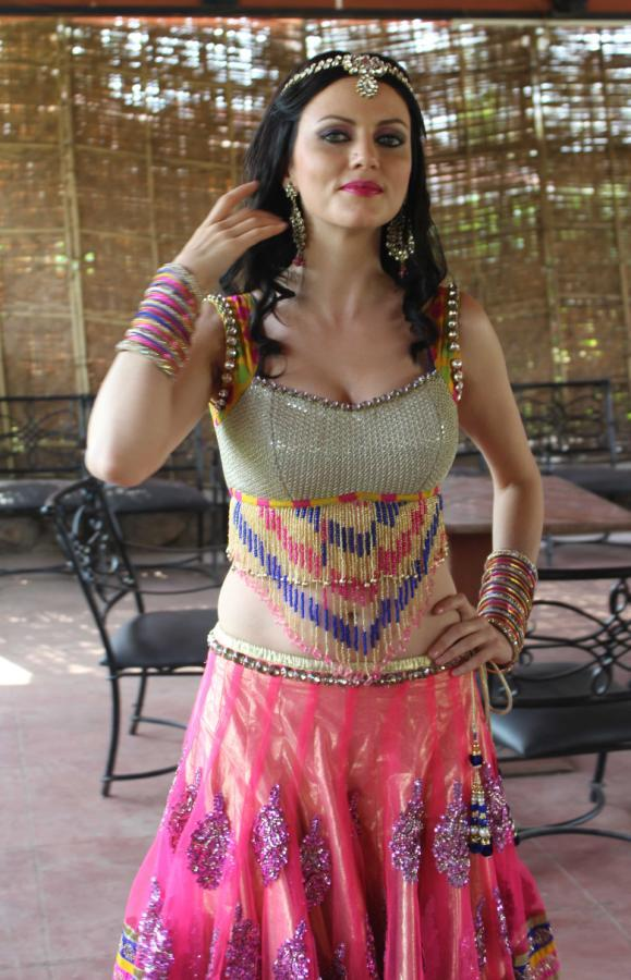 Yana In Dance Costume Photo Clicked During Dussehra Movie Special Song Shoot For Holi