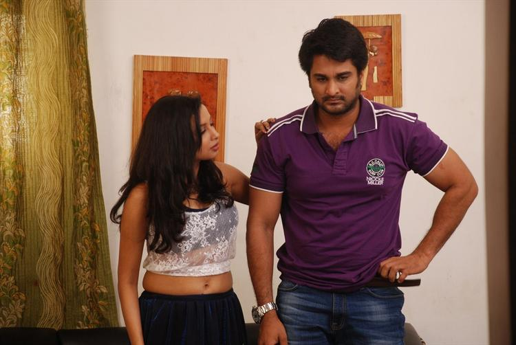 Richa Sinha And Rishi A Still From Srimati Bangaram Movie