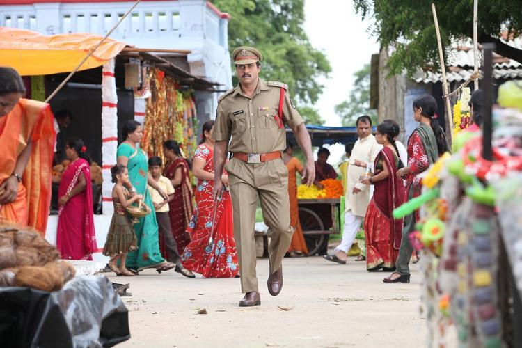 Sunil Varma As A Cop Still From Thadaka Movie