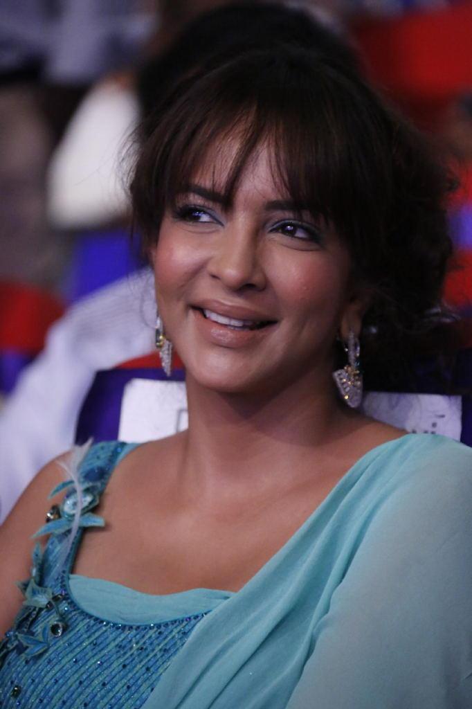 Manchu Lakshmi Smiling Look At TSR TV9 Film Awards Function
