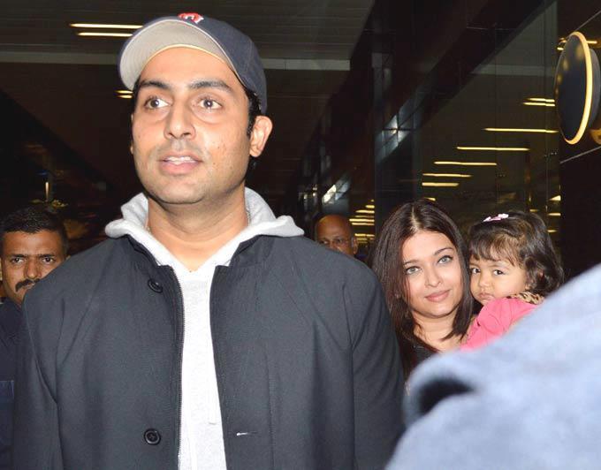 Abhishek Bachchan Dazzling Look On Return From New York At Mumbai Airport