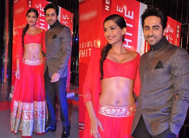 Sonam And Ayushmann At Colgate Visible White Launch Event