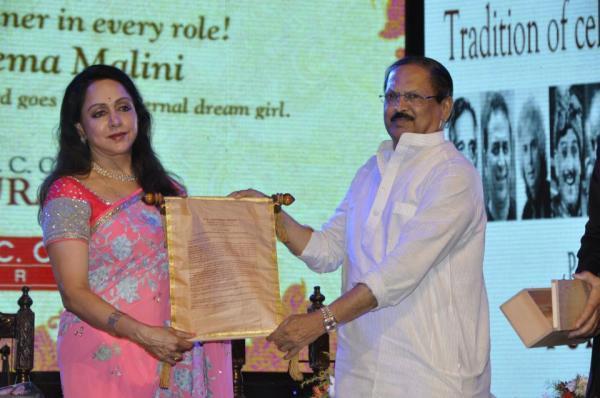Hema Malini Honoured At 21st P.C. Chandra Purashkaar Award Ceremony