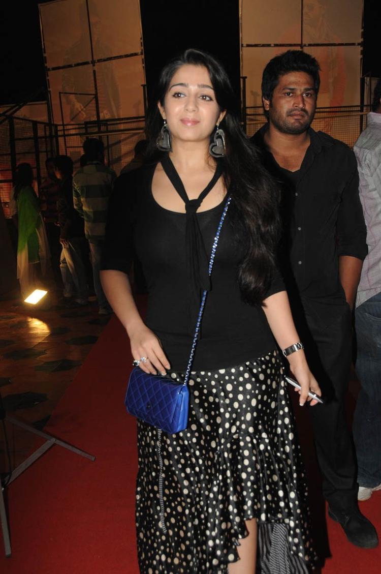 Charmy Kaur Attend The Iddarammayilatho Audio Launch Function