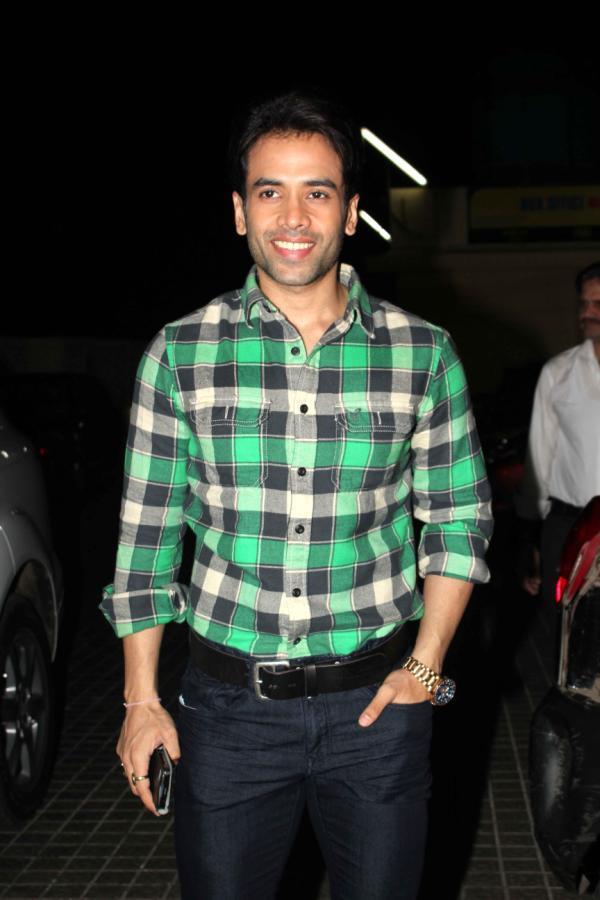 Tusshar Kapoor Smiling Pose At Special Screening Of Shootout At Wadala