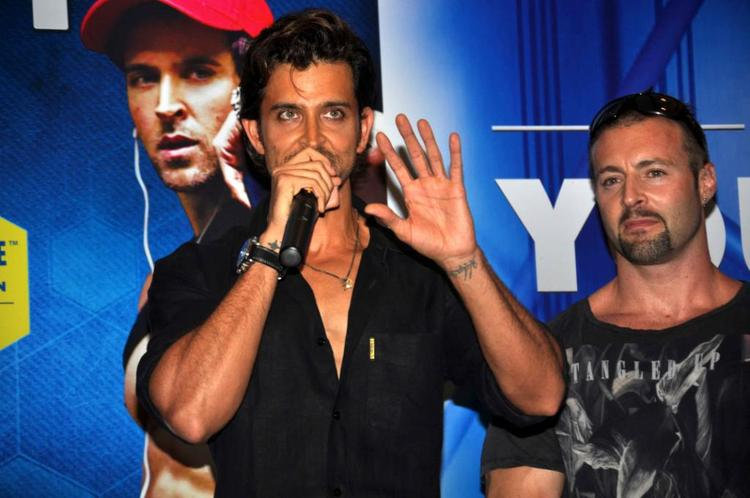 Hrithik Roshan During Fitness Book Your Best Body Launch Event