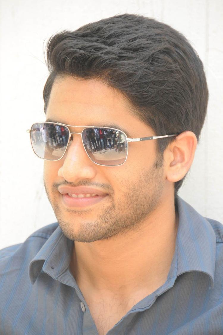 Naga Chaitanya Dazzling Handsome Look During The Interview Of Thadaka Movie