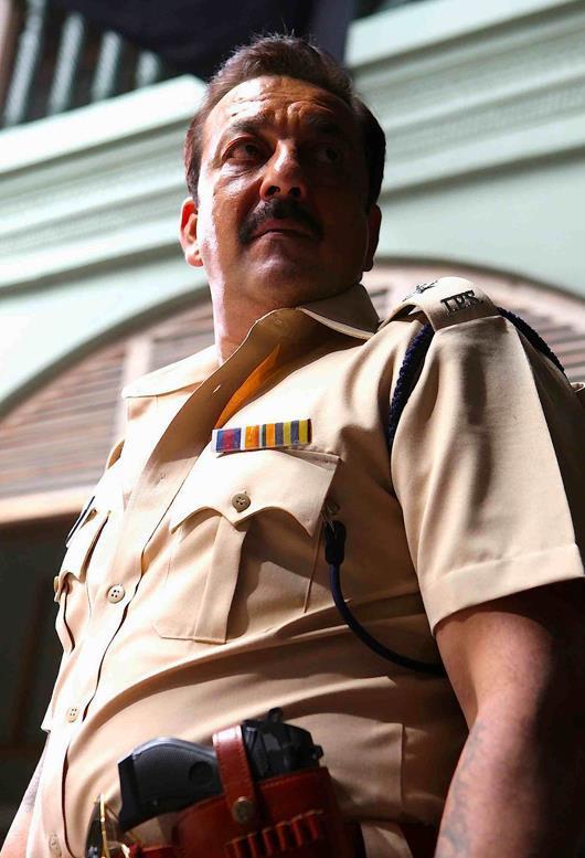 Sanjay Dutt As A Cop Look In Policegiri First Look Poster