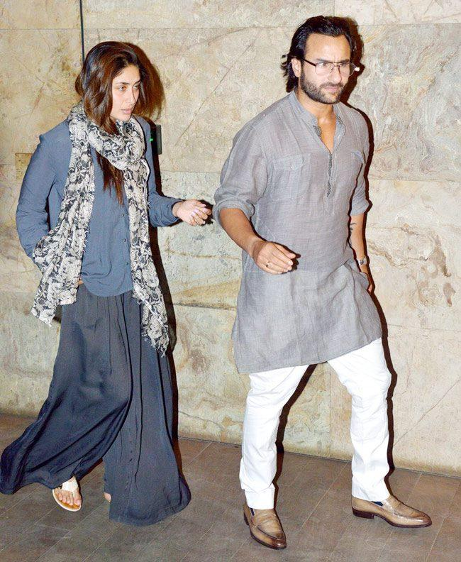 Kareena Walks With Hubby Saif For Attending The Special Screening Of Go Goa Gone Movie
