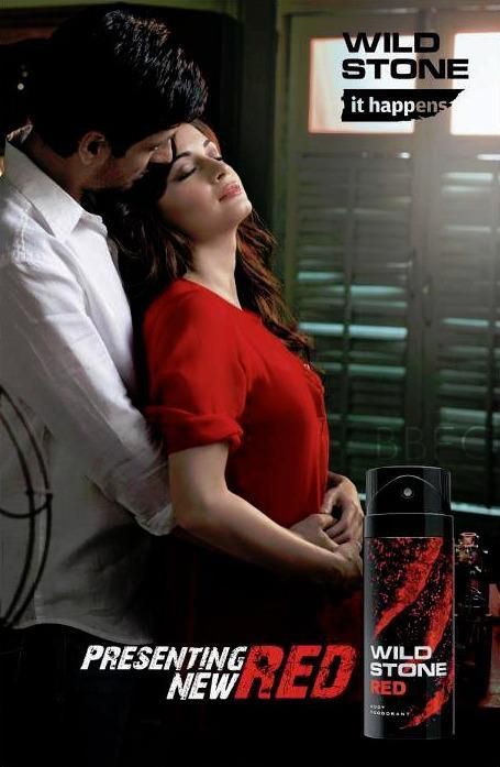 Dia Mirza Sizzling Photo Shoot For Red Wild Stone TVC Ad