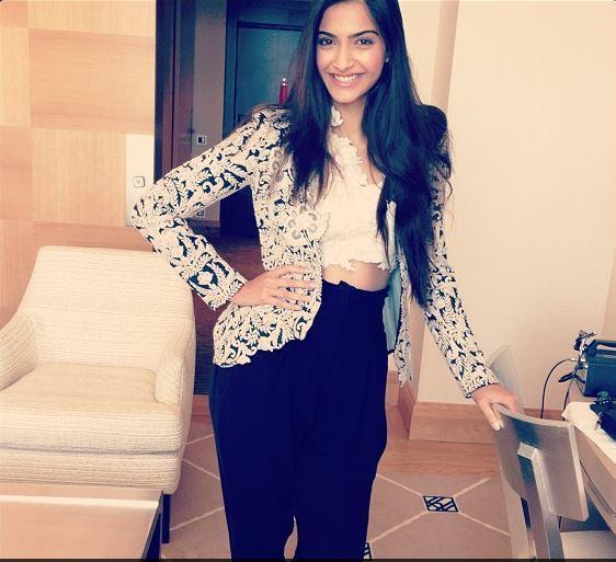 Sonam Kapoor Strikes A Posed For Camera Still