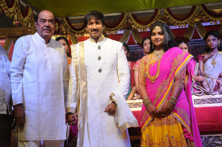 Gopi Chand And Reshma Wedding Reception Latest Still