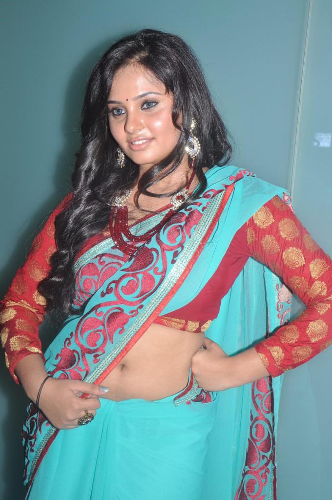 Aarushi Hot Navel Exposing Photo Shoot At Adithalam Audio Launch