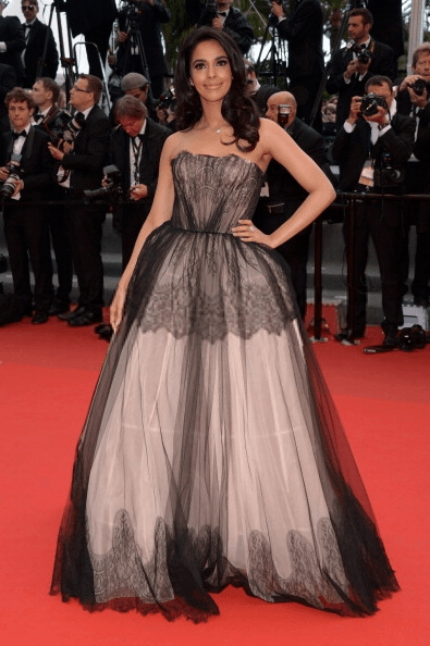 Mallika Sherawat In A Strapless Dolce And Gabbana Gown At Cannes Film Festival