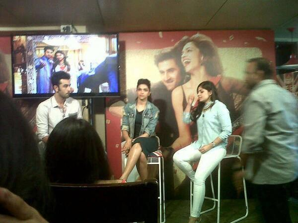 Ranbir And Deepika At Press Conference During The Promotion Of YJHD On Times Now Event