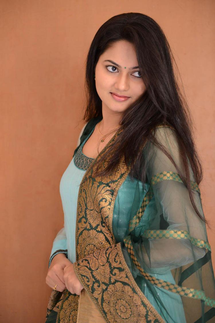 Suhasini In Chudidar Dress Cute Look At Rough Movie Logo Launch Event