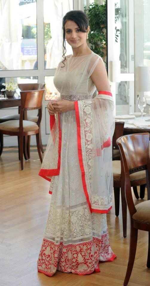 Ameesha Patel Looking So Beautiful In Manish Malhotra Dress At Cannes