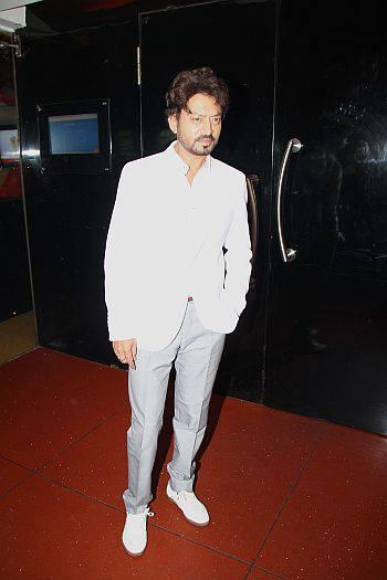 Irrfan Khan Snapped At First Look Launch Of D - DAY