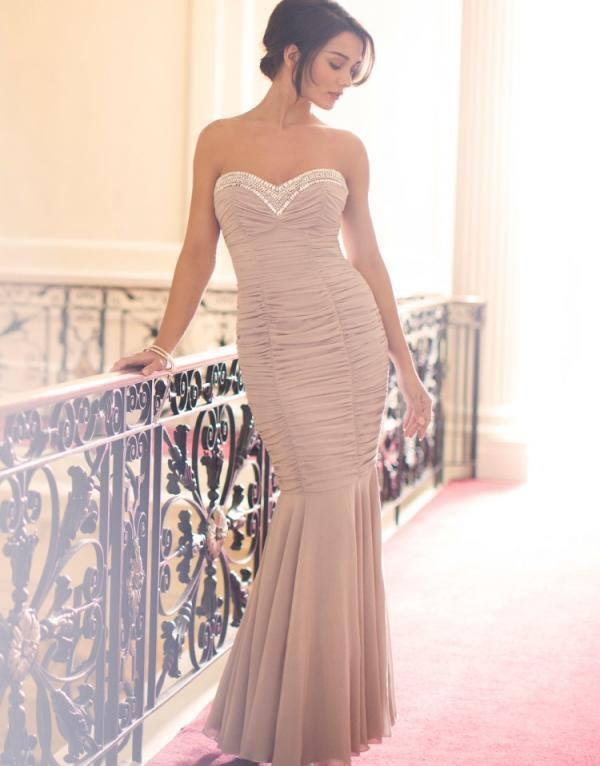 Amy Jackson Looking Dashing In Sweetheart Embellished Ruched Maxi Dress