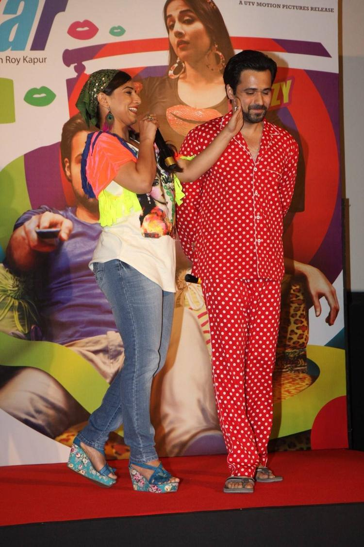 Vidya And Emraan Launched The Ghanchakkar Song Lazy Lad