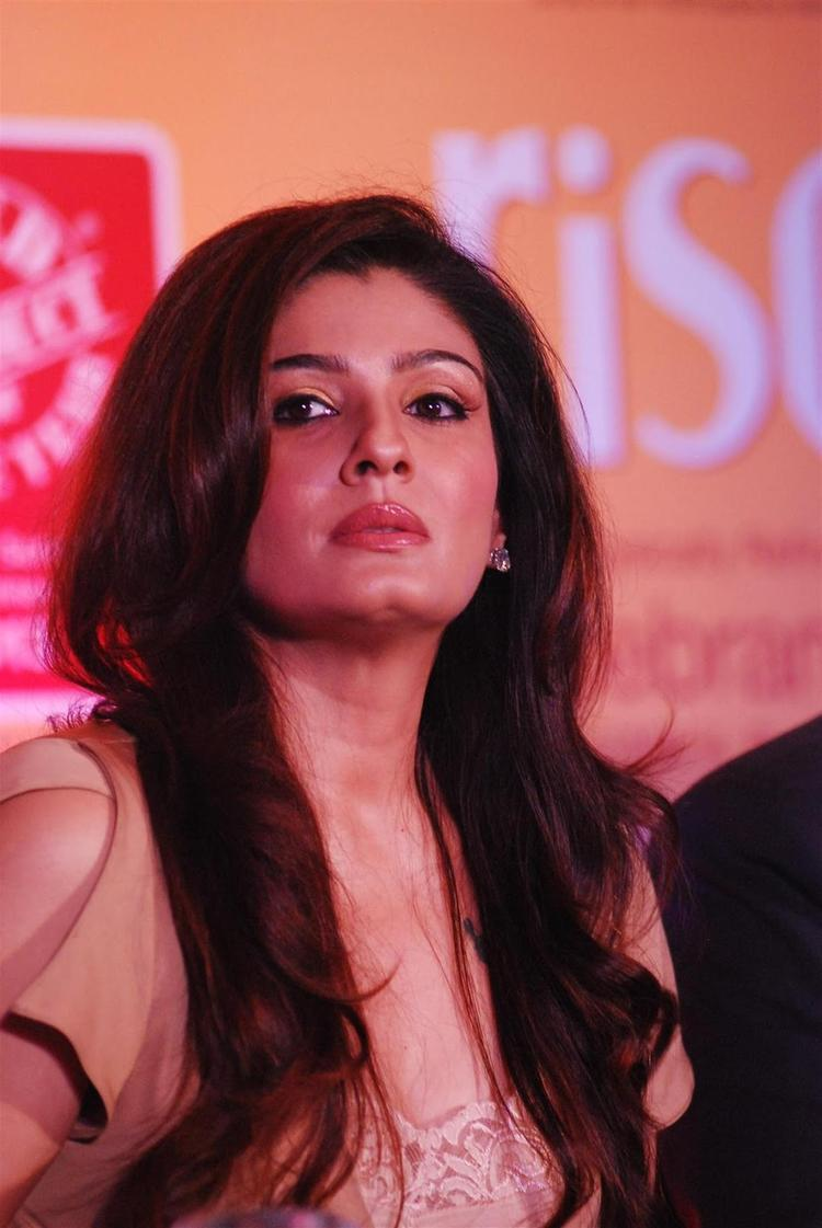 Bollywood Actress Raveena Tandon During The Launch of Riso Rice Bran Oil