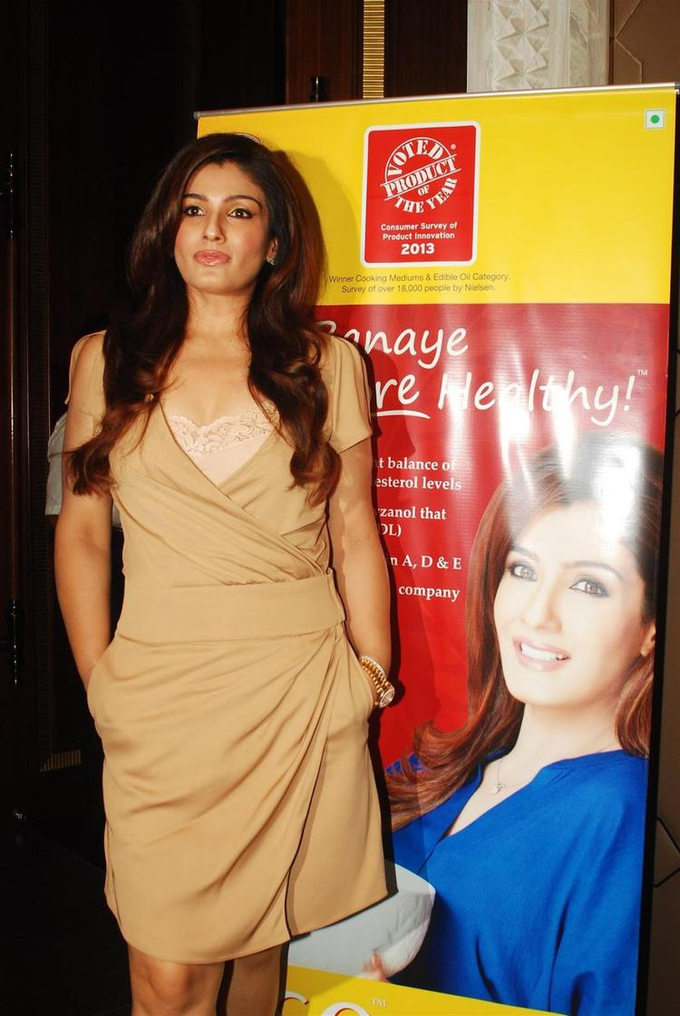 Raveena Tandon Strikes A Pose At Riso Rice Bran Oil Launch Event