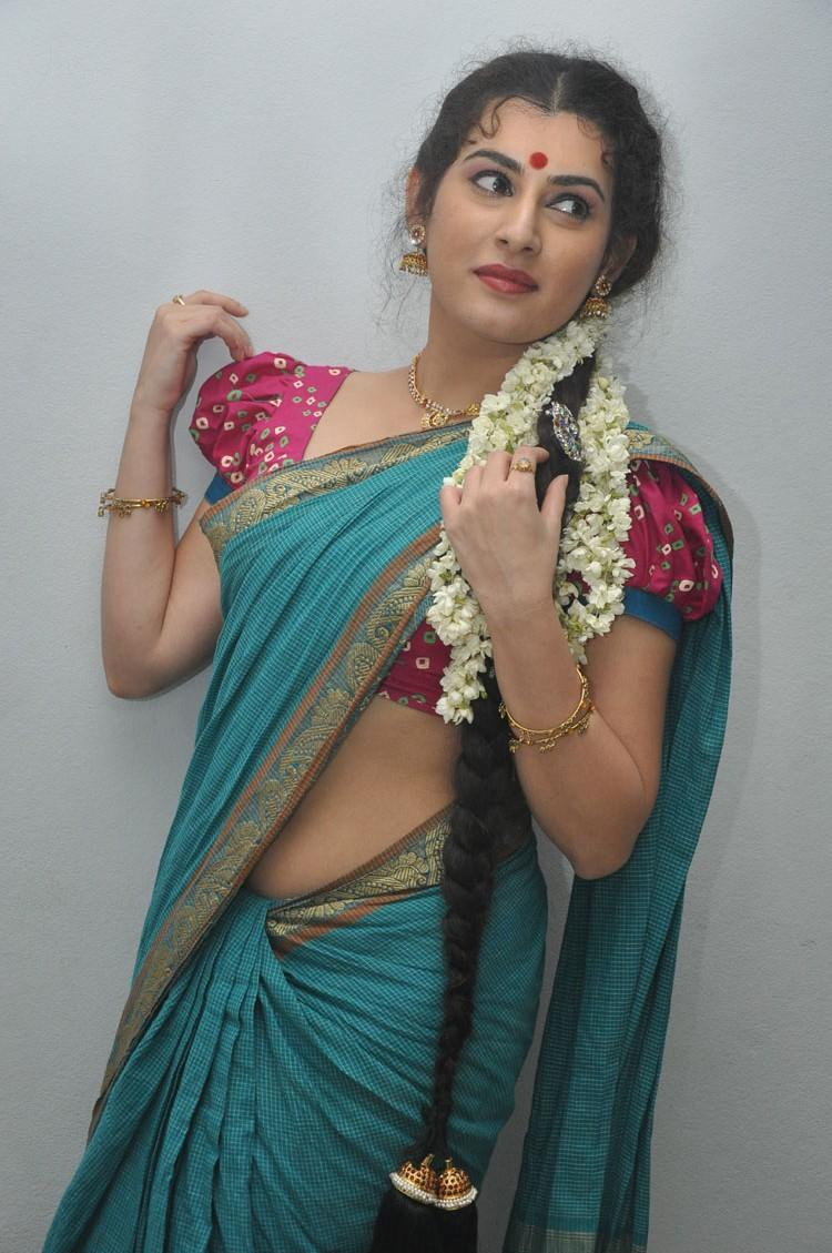 Archana In Cotton Saree Gorgeous Look At Maha Bhaktha Siriyala Movie Audio Release Function