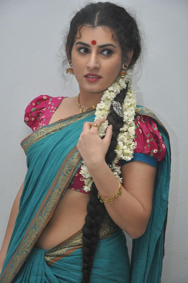 Archana Lookes Cute In Cotton Saree At Maha Bhaktha Siriyala Movie Audio Release Function