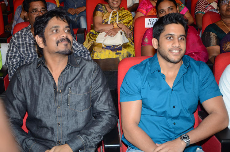 Naga Chaitanya With Nagarjuna At Adda Movie Audio Launch Function