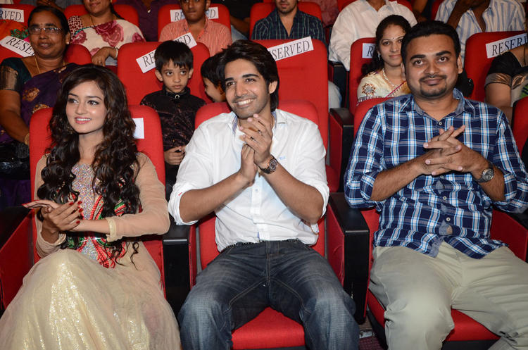 Sushanth And Shanvi Enjoy Adda Telugu Movie Audio Launch Function