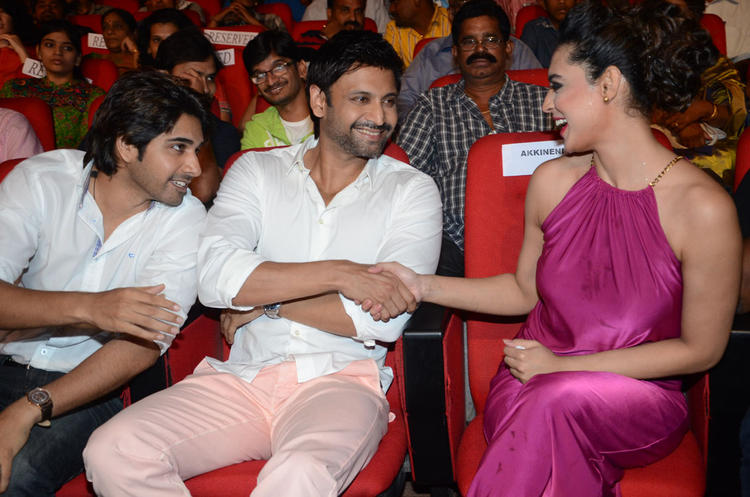 Sushanth,Sumanth And Swetha Fun Still During Adda Movie Audio Launch Function