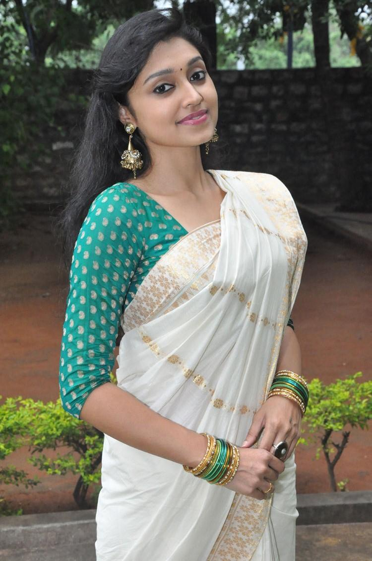 Sija Rose Exclusive Look In Saree At Ela Cheppanu Movie Audio Release Function