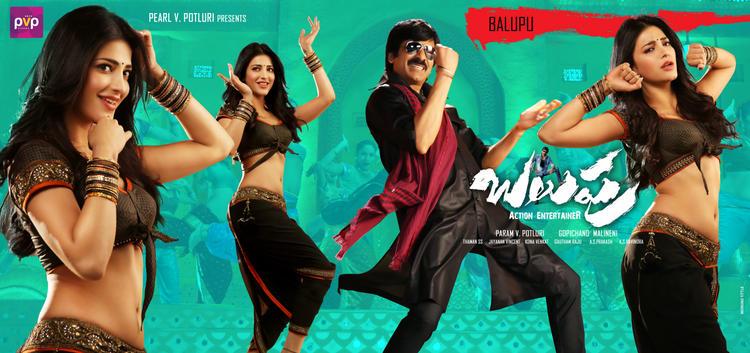 Shruti And Ravi Teja Latest Poster In Balupu Movie