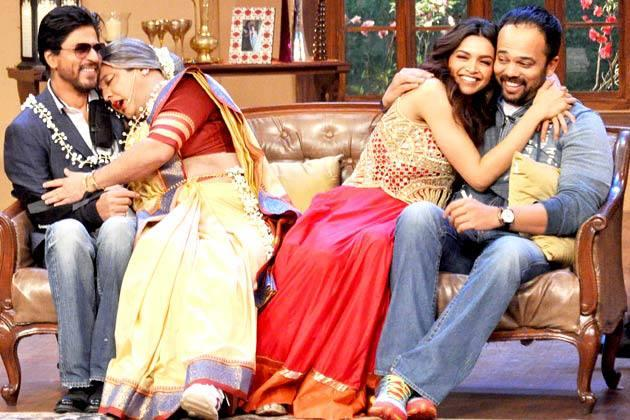 SRK,Ali,Deepika And Rohit Cool Enjoying Moments On The Sets Of Comedy Nights With Kapil