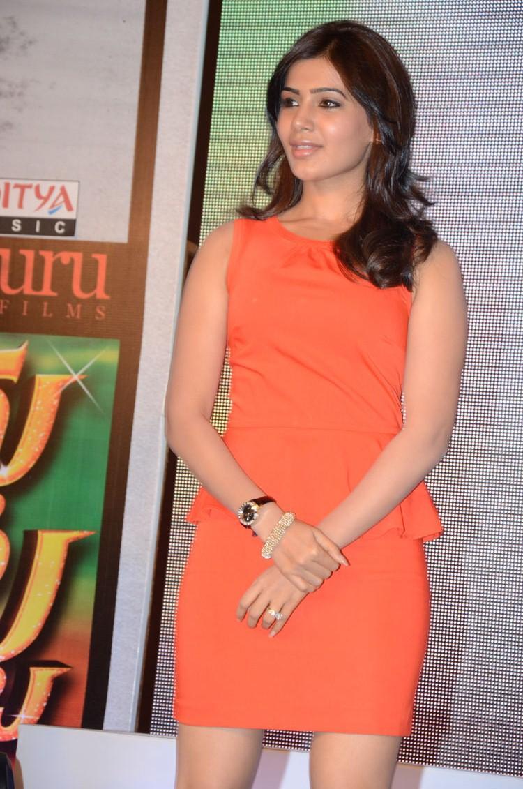 Samantha Posed For Camera At Bangaru Kodipetta Movie Audio Launch Function