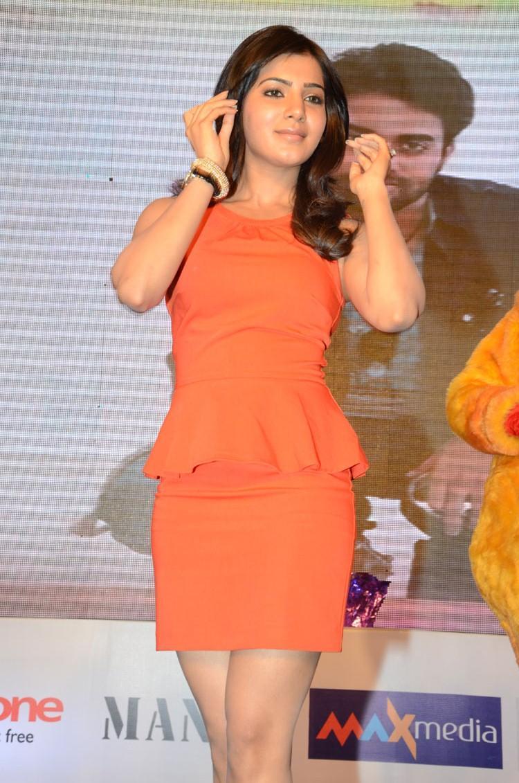 Samantha In Short Dress Hot Look At Bangaru Kodipetta Movie Audio Launch Function