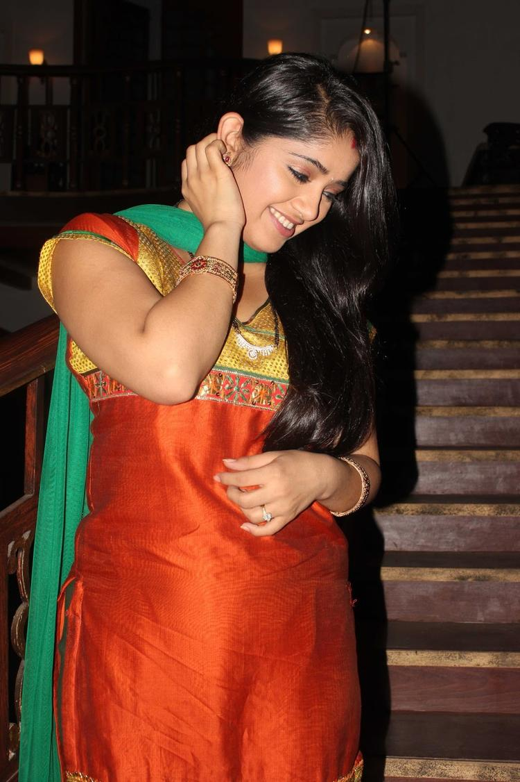 Chandni Bhagwanani Strikes A Pose During The Promotion Of Issaq Movie On The Sets Of Amita Ka Amit