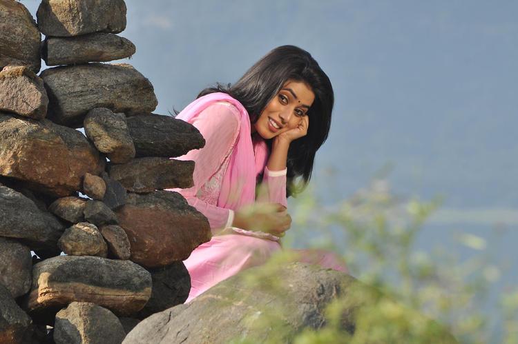 Poorna Cool Smiling Look From Telugulo Naaku Nachani Padam Prema Movie