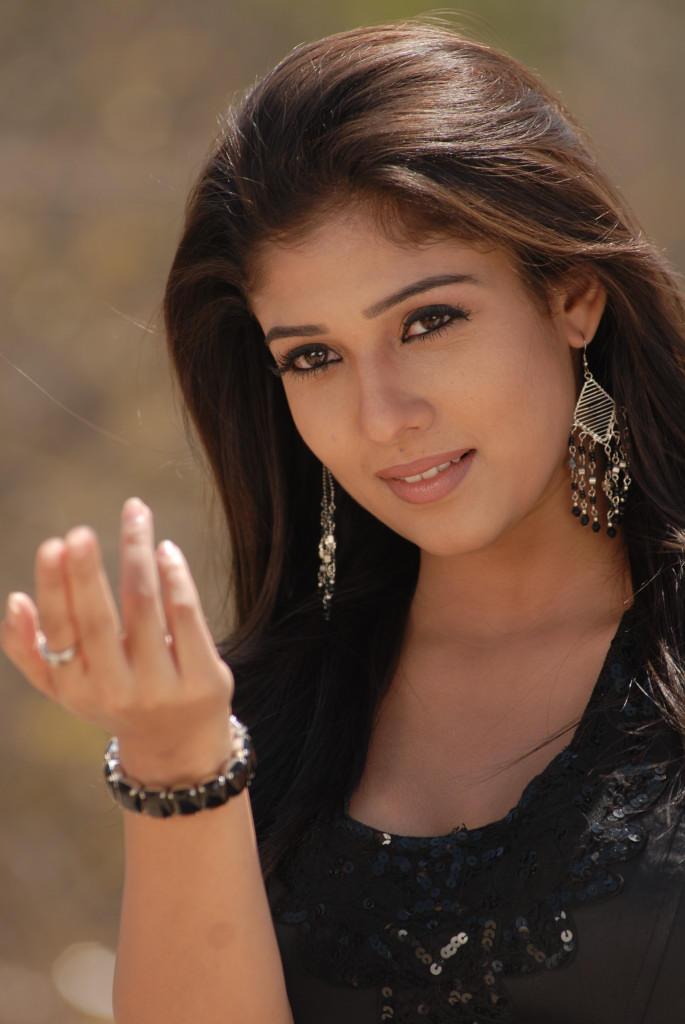 Nayanthara In Black Dress Dazzling Beautiful Look Still