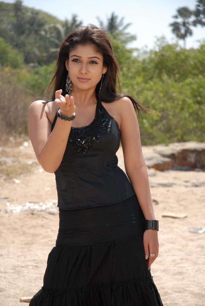 Nayanthara In Black Dress Sexy Hot Look Still