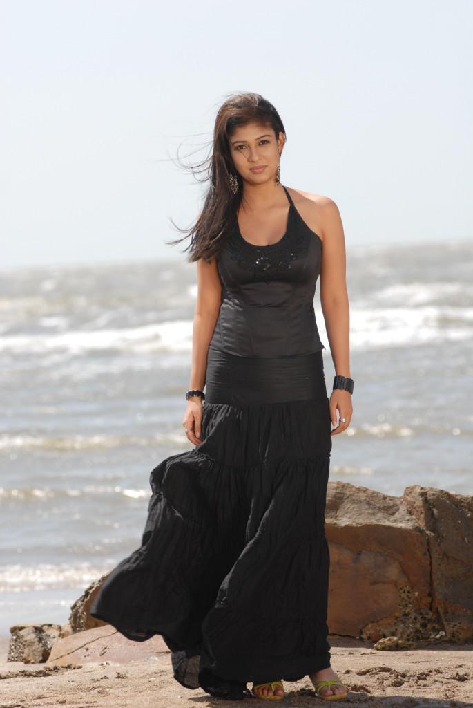 Nayanthara In Black Dress Strikes A Pose For Camera Still